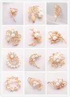 Wholesale Swan Leaf - Wholesale- Romantic Rose Flower Brooch Dragonfly Leaf Swan Bear Jewelry For Women Crystal Pin Brooches Fashion Scarf Bijoux Accessories