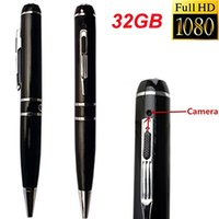 Wholesale Best Full Hd Camcorders - Best Spy Pen Camera 8GB 16GB Full HD 1080P 30FPS 720P 60FPS H.264 Pen Camcorder USB Hidden DVR Audio Video Recording Covert Camera Security