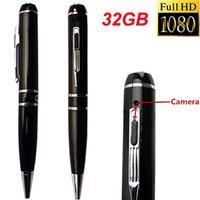 Wholesale Best Security Dvr - Best Spy Pen Camera 8GB 16GB Full HD 1080P 30FPS 720P 60FPS H.264 Pen Camcorder USB Hidden DVR Audio Video Recording Covert Camera Security