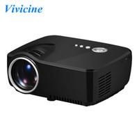 Wholesale Min Videos - Vivicine GP70 Min Projector,1200 Lumens 800x480pixels Portable Pico LED HDMI USB Digital TV DVB-T Home Theater Proyector Beamer