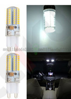 Wholesale Nature Crystal Sale - NEW Hot Sale G9 3W 80 LED 3014 SMD Crystal Silicone Corn Light Lamp Bulb Pure White Warm White 110 220V FREE SHIPPING MYY