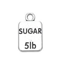 Wholesale Letter Sugar - Personalized Design Antique Sliver Plated Engraved Letter Sugar 5lb Charms Accessories Jewelry
