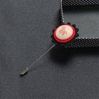 broches de tecido de moda venda por atacado-BoyuTe 10 pcs natal tecido não-tecido trojan flor brooche homens casamento lapela pin para ternos de moda jóias