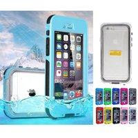 Wholesale Wholesale Water Meters - For iPhone 6S Plus Waterproof Case Touch ID Fingerprint identify Underwater 3 meters Colorful Swimming Sport Case Shockproof Dustproof Case