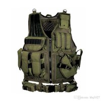 Wholesale Armor Vests - 2017 Tactical Vest Outdoor Camouflage Body Armor Sports Wear Hunting Vest Army Molle Vest Black Free Shipping