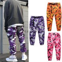 Wholesale Oversized Xxl - FLYING NINETY Latest TOP camouflage camo KANYE WEST & FNTY oversized men joggers pants hip hop justin bieber Pink purple Fashion pants S-XXL