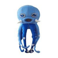 Wholesale Real Octopus - Blue Octopus Mascot Mascot Costumes Cartoon Character Adult Sz 100% Real Picture