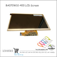 Wholesale Tablet Pc Replacement Parts - Wholesale-Original 7 inch BA070WS1-400 LCD Display TFT Module Tablet PC Replacement Parts With Free USB Cable