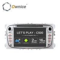Wholesale build car console - Ownice C500 G LTE Android Quad Octa Core Din Car DVD Player GPS For FORD Mondeo S MAX Connect FOCUS