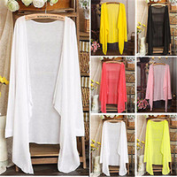 Wholesale One Size Cardigans - Wholesale-Women Sun Protection Sunscreen T-shirts Cardigan Thin Shirts Sunblock Top One Size db