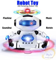 Wholesale Electronic Robot Toys - Robot Toy 360 Rotating Smart Space Dance Robot Electronic Walking Toys With Music Light Gift For Kids Astronaut Toy to Child