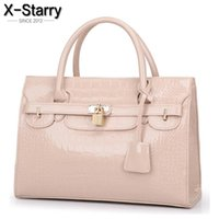 Wholesale bright leather bags - Wholesale-X-Starry 2016 Fashion Women Handbags Good Quality Bright Leather Women Bags Famous Brand Women Shoulder Bags Ladies Tote 8478la