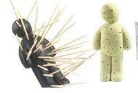 ingrosso supporto per stuzzicadenti-Creativo Venting Little Man Titolari di stuzzicadenti Titolari di stoccaggio di stuzzicadenti unico Spedizione gratuita