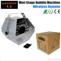 Wholesale Wholesale Bubble Machines - Free Shipping 8 Unit Mini Wedding Bubble Machine Single Rotating Bubble Ring Wheel Wireless Remote Control Silver Color 110V 240V TP-T100