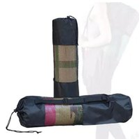 Wholesale nylon carrier bags - Portable Yoga Pilates Mat Nylon Bag Carrier Mesh Center Adjustable Strap Shoulder Strap for 6MM Yoga Mats