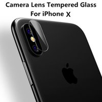 Wholesale Iphone Back Lens - For iphone x Iphone 8 7 6 Plus Accessory Back Camera Lens Screen Protector Protection Tempered Glass Full Cover Coverage Film