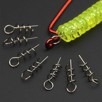 Fishing Spring Needle Screw Dagger pour Soft Worm Lure Crochets Pin Fixed Lock Sea Water Fish Crank Bait Tackle