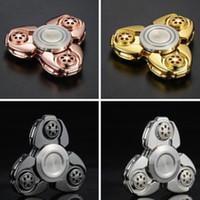 Wholesale Tools Toys For Kids - CKF American EDC Tools Fidget Spinner Triangle Pepyakka Torqbar Hand Spinner Toys Aluminum Alloy Tri-Spinner For Autism and ADHD