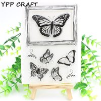 Großhandel-YPP CRAFT Schmetterling transparente klare Silikon Stempel für DIY Scrapbooking / Card Making / Kids Fun Dekoration Supplies Flower