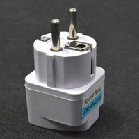 Wholesale Socket Adapter Eu - White Universal Travel Power Plug AU UK US to EU Socket Plug Travel Charger Adapter Converter