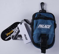 Wholesale High Quality Canvas Bag Men - palace Skateboard LOGO SHOT BAG high - quality fashion attractive cute casual men' s shoulder bag mini Messenger bag 2017
