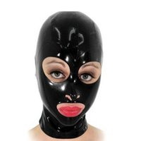 Wholesale new latex lingerie - 2018 new arrival Solid color Bodystocking exotic Lingerie Sexy Latex Hoods Mask Open mouth and eye masks Free Shipping XS-XXL