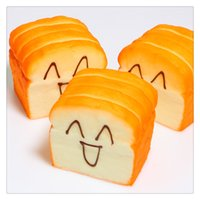 Wholesale Squishy Cartoon Toasts - Wholesale Kawaii Squishies Bread Jumbo Slow Rising Bread Squishy Toys Toast Cellphone Holder Hand Pillow Bread Scent Toys Phone Charms DHL