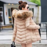 Wholesale Fake Fur Clothing - Fake fur collar oversized winter jacket women long paragraph Slim cotton jacket winter coat winter clothes 2016 Down Parkas