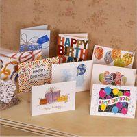 yılbaşı kartları baskı toptan satış-Tatlı Dilek Sizin Için Güzel Mutlu Doğum Günü Teşekkür Ederim Favor Hediye Kartı Tebrik Noel Baskılı Kart / Çocuk Hediye Ücretsiz Kargo ZA1863