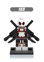 ingrosso blocchi di costruzione bianchi-Singola vendita 100 pz / lotto Bianco Deadpool mini building blocks figure Singola Vendita Super Heroes Building Blocks Imposta Modello Figure Giocattoli XH189