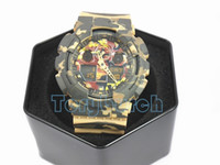 Wholesale new digital camouflage - Top quality relogio G*100 Camouflage men's sports watches, Luxury brand men watch LED chronograph wristwatch, military watch, digital watch