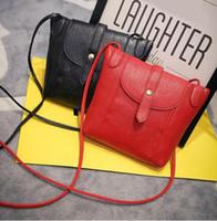 Wholesale Candy Color Female Bag - Women Leather Handbags Famous Brand Small Women Messenger Bags Female Crossbody Shoulder Bag Mini Clutch Purse Bag Candy Color