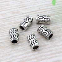 40//120pcs Tibetan Silver Round Ring Charm Loose Spacer Beads 3x8mm