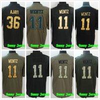 Wholesale Cheap Jay S - Mens 11 Carson Wentz Jersey 36 Jay Ajayi Jersey Cheap Black Gray Green