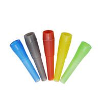 Wholesale Medical Plastic Bags - Wholesale 100pcs Poly Bag Disposable Plastic 53MM Mouth Tips Healthy Medical Shisha Nargila Mouthpiece Free Shipping