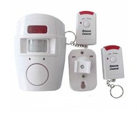 Wholesale Security Motion Pir Sensor Detector - Home Security PIR MP Alert Infrared Sensor Anti-theft Motion Detector Alarm Monitor Wireless Alarm system+2 remote controller