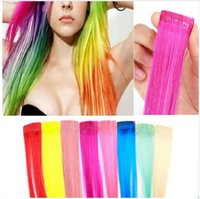 Wholesale Hair Extension Streaks - 8colors for choose COS European and American punk color streaked wig piece wig hair piece wig