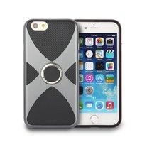 Wholesale Iphone Back Covers Unique - TPU+PC 2-in-1 Armor Case hock-Proof Cases Unique Design 360 Ring Stand Holder Back Cover For Case For Apple iPhone