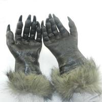 Wholesale Scary Devil Mask - Wholesale-Halloween Horror Devil Masks Silicone Rubber Masks Party Halloween Gloves Wolf Mask Wolf Gloves Halloween Scary Horror Masks