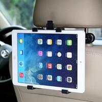 ipad koltuk sırtlığı toptan satış-Toptan Araba Geri Koltuk Kafalık Dağı Tutucu iPad Hava mini Tablet SAMSUNG Tablet PC Ücretsiz nakliye Standları