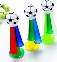 Wholesale Football Party Favors - Cheer Horn Hand Held Football Sport Event Team Supporter Loud Party Carnival Concerts Noise Maker festive Props favors gift