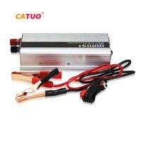 Wholesale Dc 12v Power Battery - Wholesale- CATUO power inverter converter 1500w DC 12V to AC 220V 50Hz car battery charger Adapter Car Power Supply ST-N014 high quality#