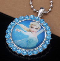 films en vrac achat en gros de-Fashion Freeze Jewelry Movie Frozen Princess Collier Anna Locket Boutique Kid Birthday Cadeau de Noël Children Min Order 10 pièces Bulk