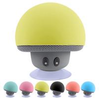Wholesale Mini Bluetooth Mushroom Speakers - Mini Bluetooth Speaker Wireless Waterproof Speakers Bluetooth Portable Mushroom Heavy Bass Stereo Music Speaker With Mic