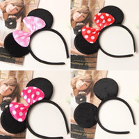 Wholesale Minnie Mouse Supplies - Children mickey and Minnie mouse ears headband girl boy headband kids birthday party supplies decorations WD381