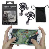 Wholesale Dual Joypad - Universal Mini Mobile Joystick Dual Analog Joysticks Samrtphone Game Rocker Touch Screen Joypad Controller For iPad iPhone7 Samsung Free DHL