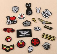 Wholesale Iron Patches Crowns - 2017 New Sport crown cat Batman embroidered patches for sewing Bag clothing patches iron on sewing accessories applique