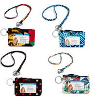 Wholesale Zipper Lanyards - VB Cotton Zip ID Case with Lanyard ID Card Holder Credit Card Bus Card Case Stationery School supplies
