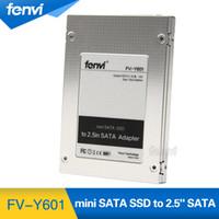 "Wholesale mini caddy - Wholesale- New Fenvi mSATA Mini Pci-e SSD to 2.5"" 2.5 inch SATA Converter Adapter External Case Caddy High Quality"