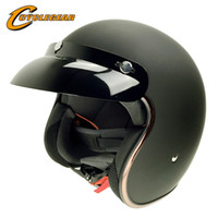 Wholesale Retro Helmets - Wholesale- DOT Vintage Motorcycle Helmet Motocicleta Cacapete Casco Casque Harley Retro Helmets CG511